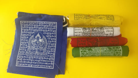 Vajrasattva 100-syllable mantra prayer flags.