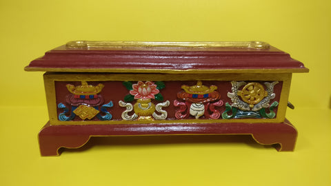 Colorful auspicious wooden incense burner
