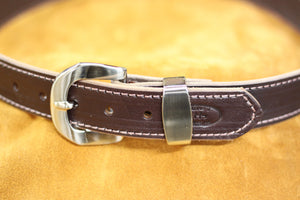 12oz Harness Leather Belt in Havana