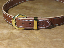 12oz Harness Leather Belt in Brown