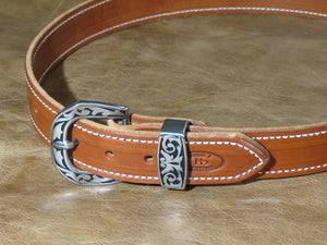 12oz Harness Leather Belt in Canyon Rose