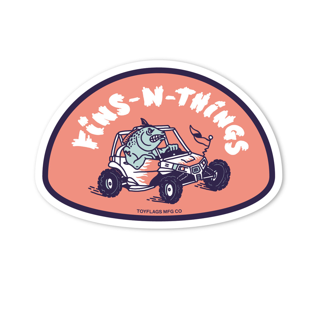 Fins n' Things Trail sticker