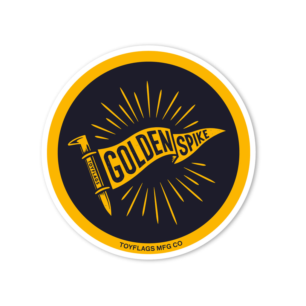 Golden Spike Trail sticker