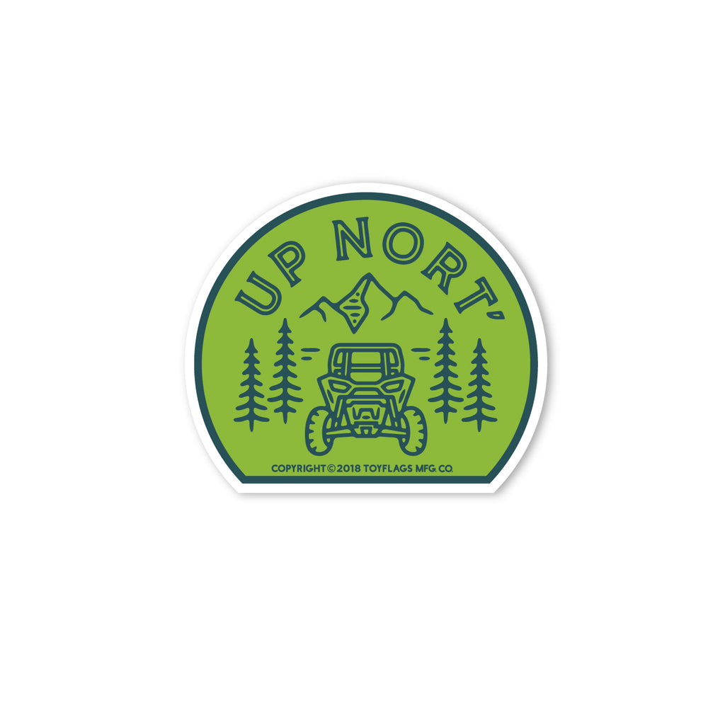 Up Nort' sticker