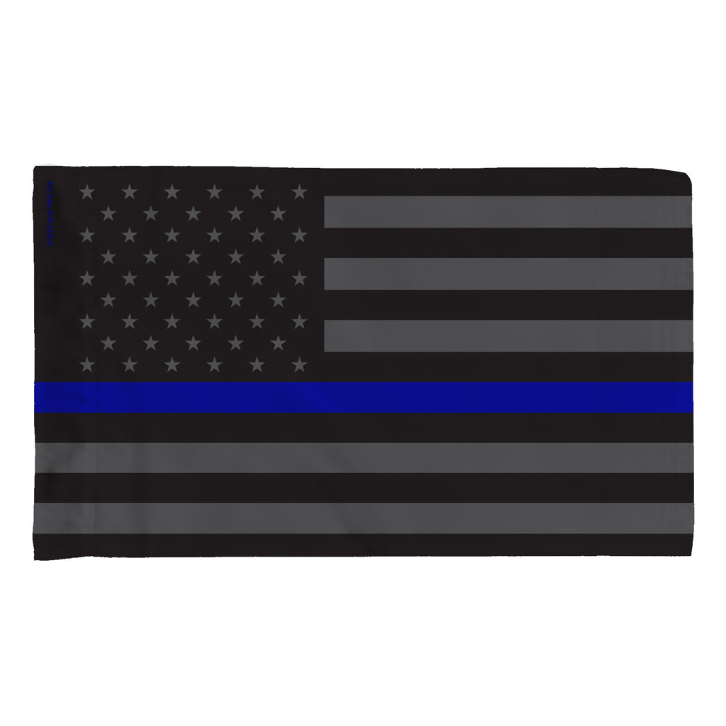 USA Thin Blue Line in Gray