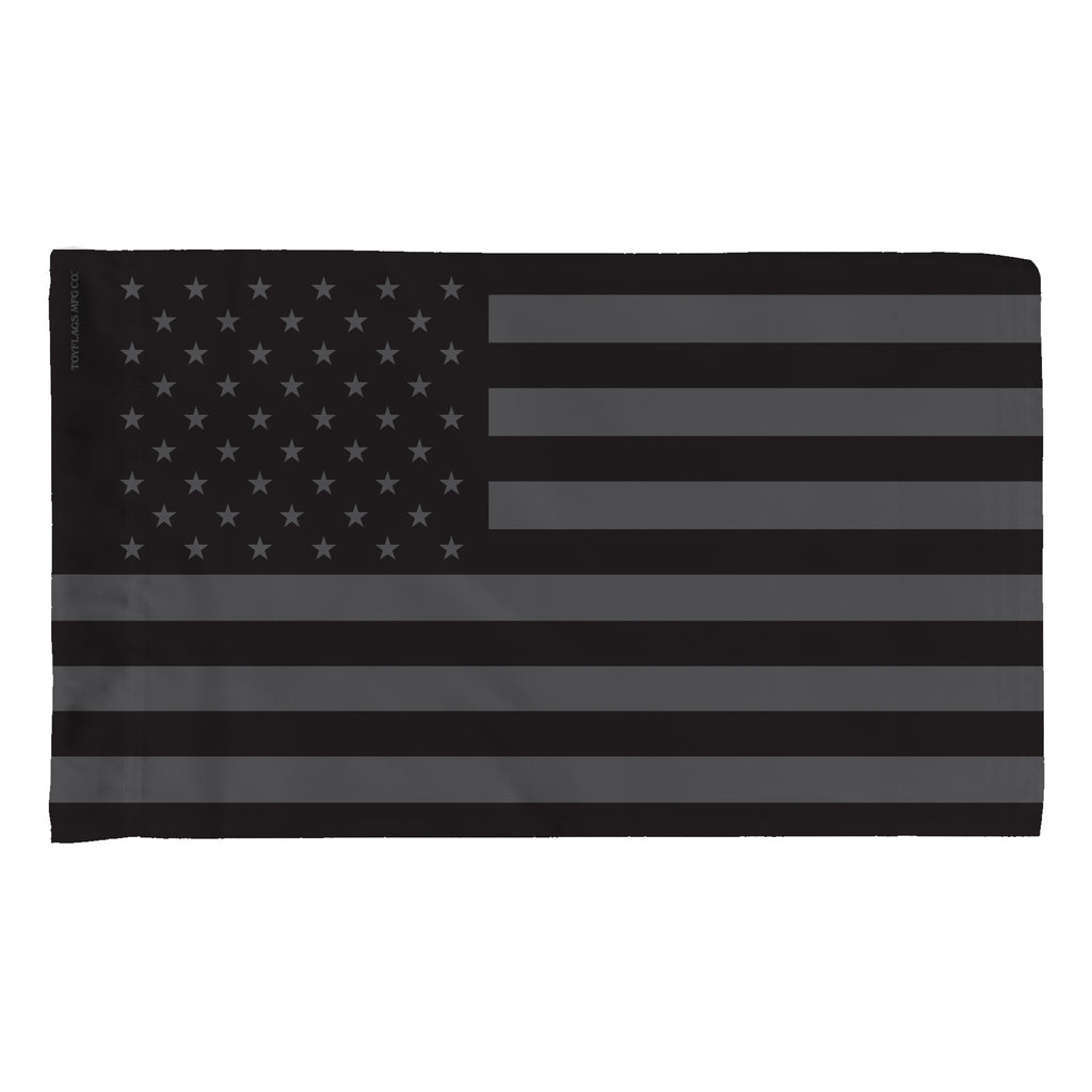 USA Gray and Black Flag