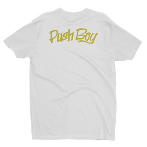 Push Boy Gold Print T-shirt (Back Print)