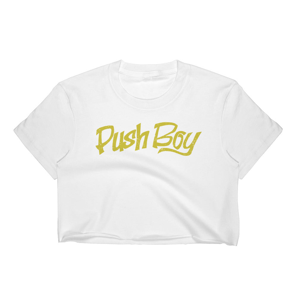 Push Boy Women's Crop Top (Front Print)