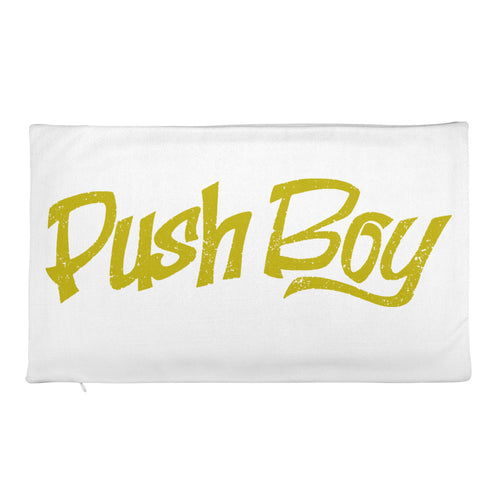 Push Boy Rectangular Pillow Case only (Gold)