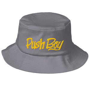Old School Push Boy Bucket Hat (Gold)