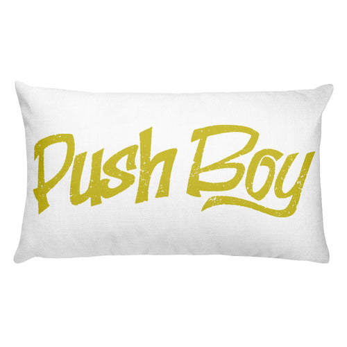 Rectangular Push Boy Pillow (Gold)