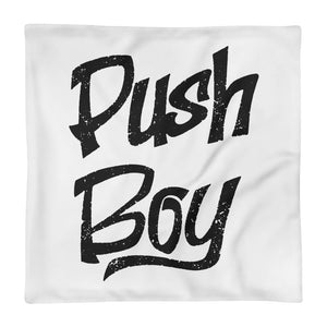 Push Boy Square Pillow Case only