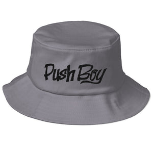 Old School Push Boy Bucket Hat (Black)