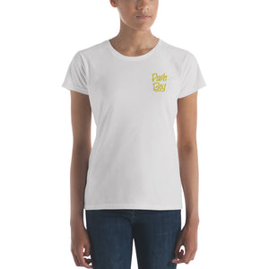 Push Boy Women's short sleeve t-shirt (Gold)