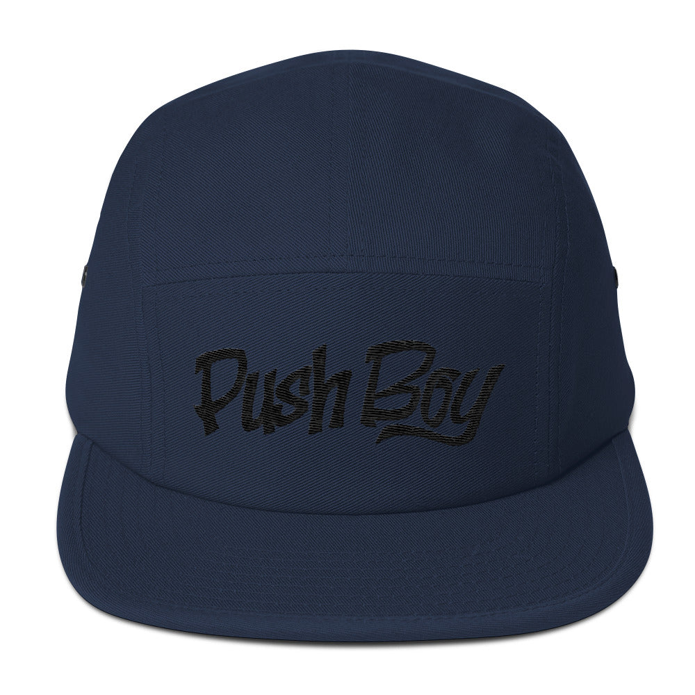 Push Boy Five Panel Cap (Black)