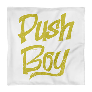 Square Push Boy Pillow Case only (Gold)