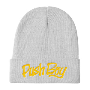 Push Boy Knit Beanie (Gold)