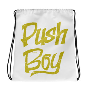 Push Boy Drawstring Bag (Gold)