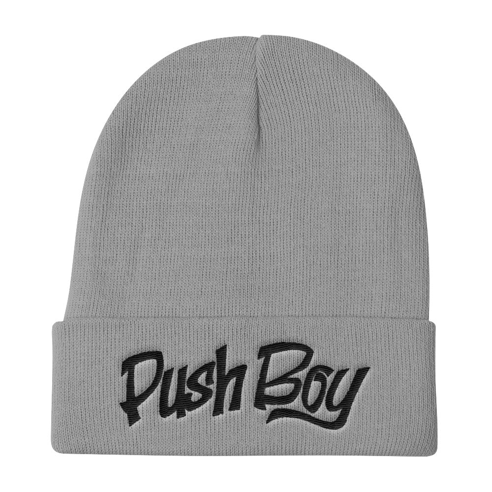 Push Boy Knit Beanie (Black)