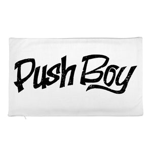 Rectangular Push Boy Pillow Case only (Black)
