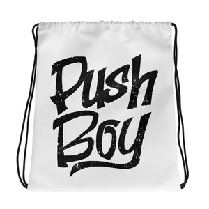 Push Boy Drawstring bag (Black Print)