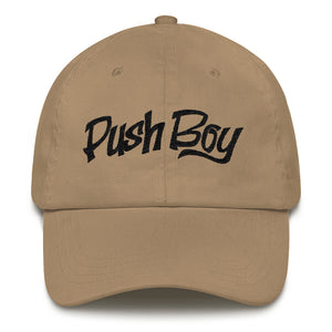 Push Boy Dad hat (Black)