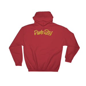Hooded Push Boy Sweater (Back Print)