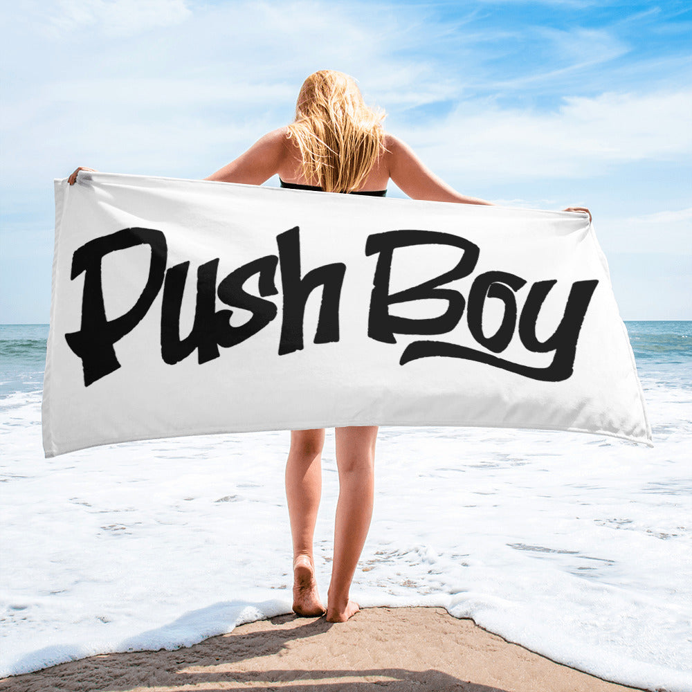 Push Boy towel (Black)