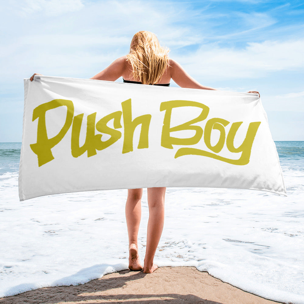 Push Boy Towel (Gold)