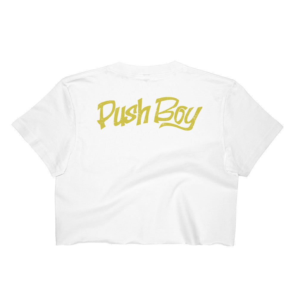 Women's Push Boy Crop Top (Back Print)
