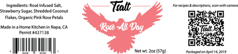 Tsalt Seasonings - Rosé All Day (Rosé Infused Salt Dessert Blend)