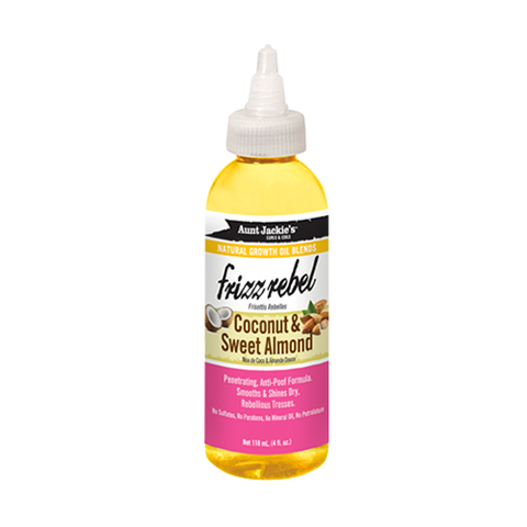 Aunt Jackie's - Natural Growth Oil Blends Frizz Rebel Coconut & Sweet Almond - 4oz
