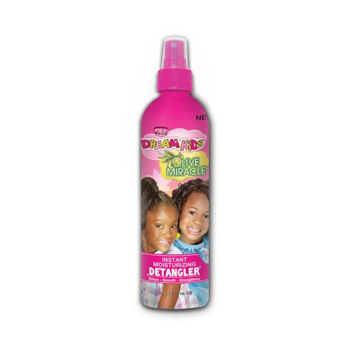 African Pride - Dream Kids Olive Miracle Instant Moisture Detangler Spray - 8oz