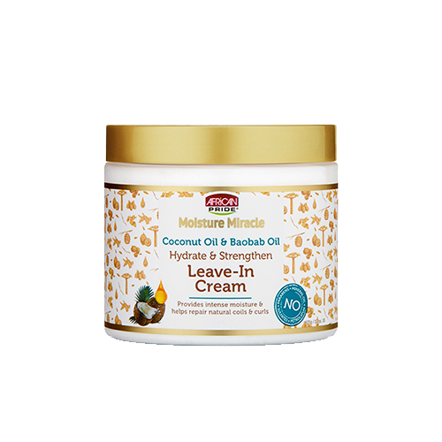 African Pride Moisture Miracle Coconut Oil & Baobab Oil Leave-In Cream - 15oz