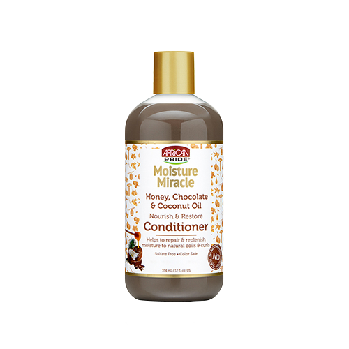 African Pride Moisture Miracle Honey, Chocolate & Coconut Oil Conditioner - 12oz