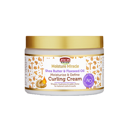 African Pride Moisture Miracle Shea Butter & Flaxseed Oil Curling Cream - 12oz