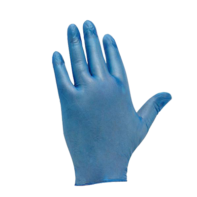 Blue Vinyl Disposable Glove - Pack of 100 Disposable Gloves