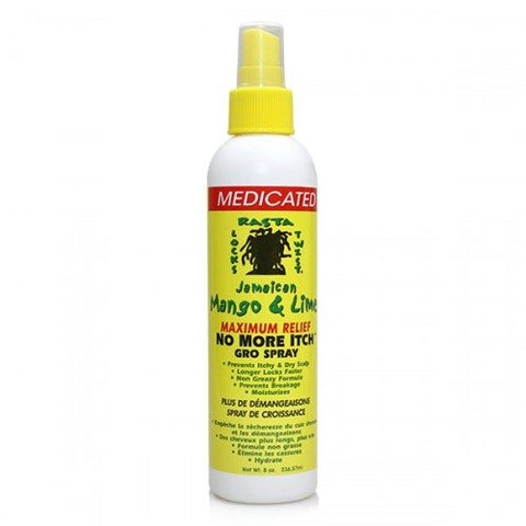 Jamaican Mango and Lime Medicated No More Itch Gro Spray 8oz
