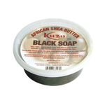 Kuza Naturals African Shea Butter Black Soap Jar