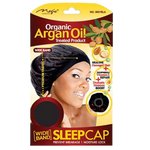 Magic Collection - Organic Argan Oil Treated WIDE BAND Sleep Cap (Item#3001BLA)