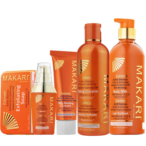 Makari Extreme Argan & Carrot Oil Gift Set (5 pc set)