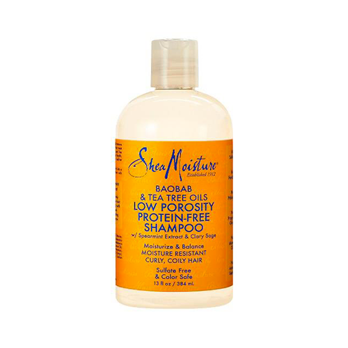 Shea Moisture - Baobab & Tea Tree Oils Low Porosity Protein Free Shampoo - 13oz