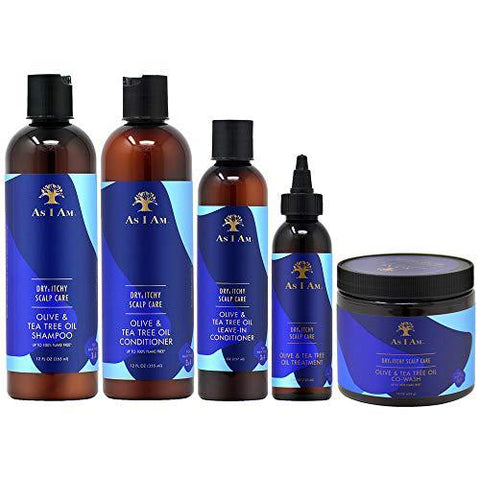 As I Am - Olive & Tea Tree Oil - Dry & Itchy Scalp Hair Care Collection