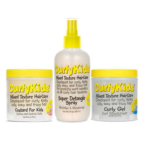 Curly Kids - Mixed & Multi Textured Style N' Go Kit
