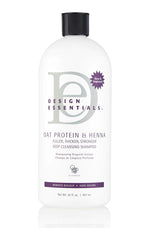 Design Essentials - Oat Protein & Henna Deep Cleansing Shampoo 32oz