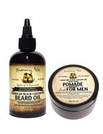 Sunny Isle Jamaican Black Castor Oil Beard Oil & Pomade For Men Bundle 4oz