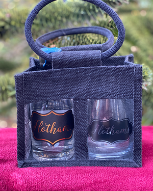 Hotham's Leeds Dry Gin & Glass in a Tote Gift Bag