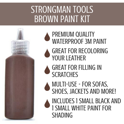 8 Pc Leather and Vinyl Paint Repair Kit: Brown Shades