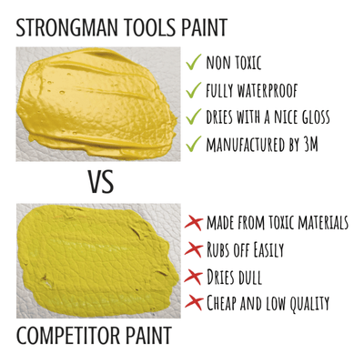 Leather and Vinyl Paint: Yellow