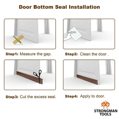 Door Bottom Weather Stripping: Brown